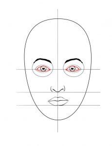 gezicht tekenen in stappen