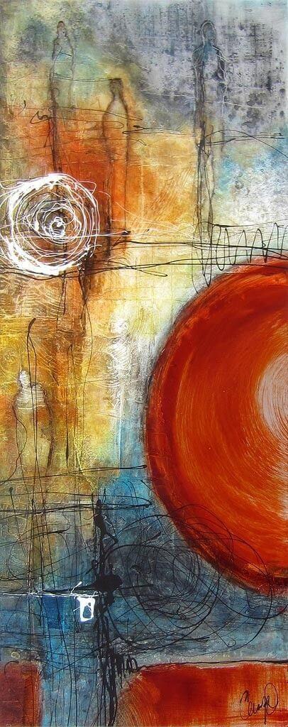 Welp Abstract schilderij zelf maken - Zelfkunstmaken.nl KP-12