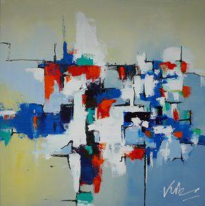 Verbazingwekkend Abstract schilderij zelf maken - Zelfkunstmaken.nl QO-86