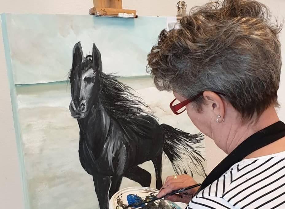 Verrassend Paarden schilderen en tekenen - Zelfkunstmaken.nl ZZ-12